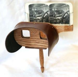 סטריאוסקופ פופלרי מהמאה ה 19 מתוך מאמר היסטוריה של מציאות מדומה