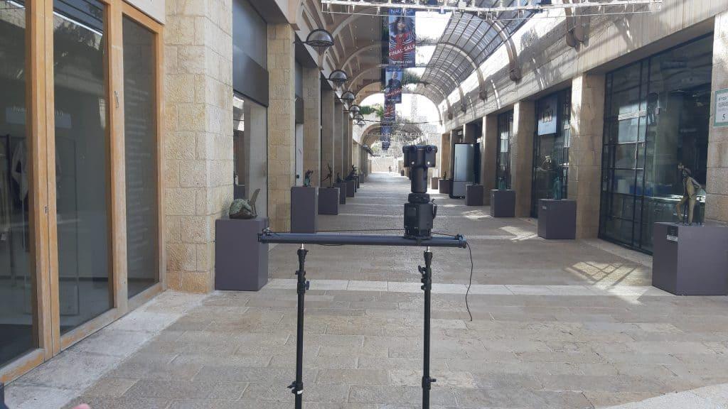 מצלמת 360 על סליידר kandao obsidian
