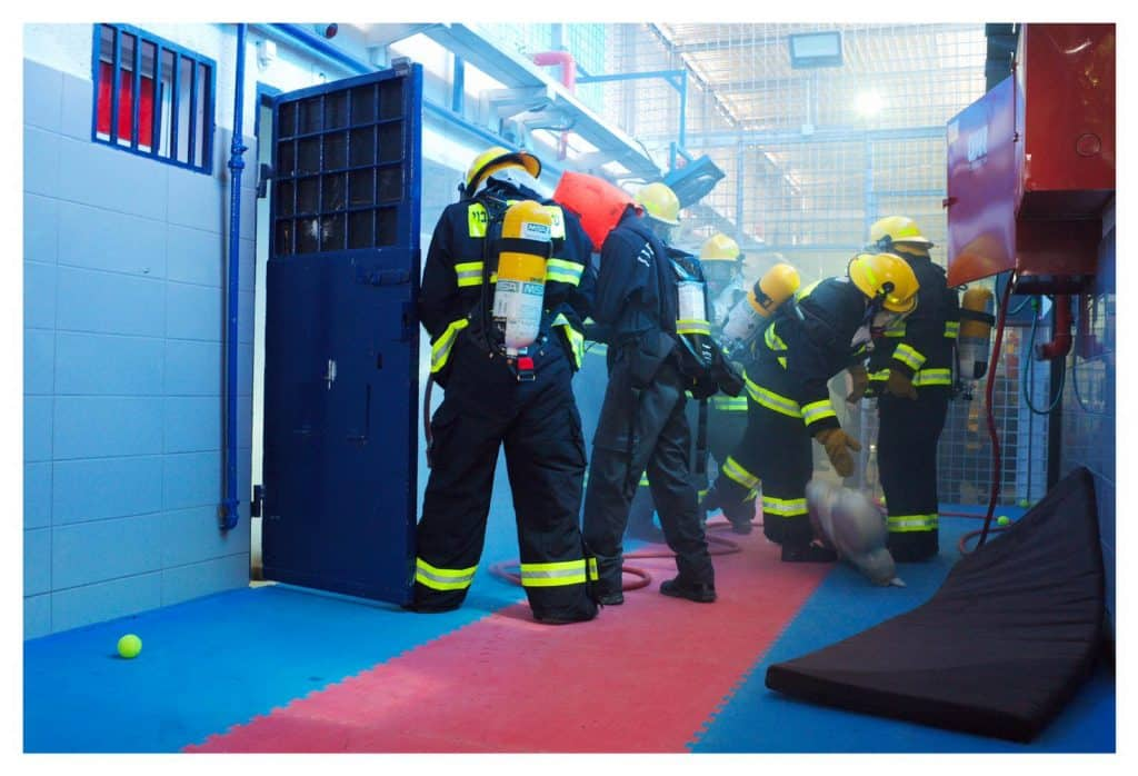 מתוך צילומי לומדה שירות בתי הסוהר נוהל כיבוי אש