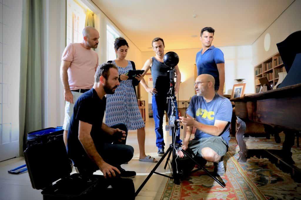 צוות הפקת הסרט מציאות מדומה בית ויצמן