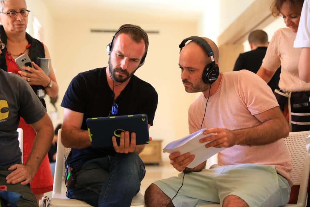 מקליטים סאונד בסט צילומי הסרט מציאות מדומה בית ויצמן